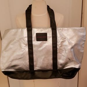 Victoria's Secret Large Zippered  Metallic Tote